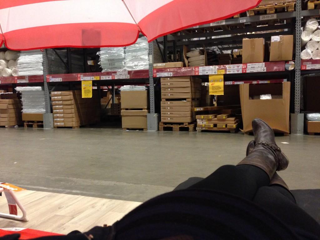 I en solseng på Ikea...
