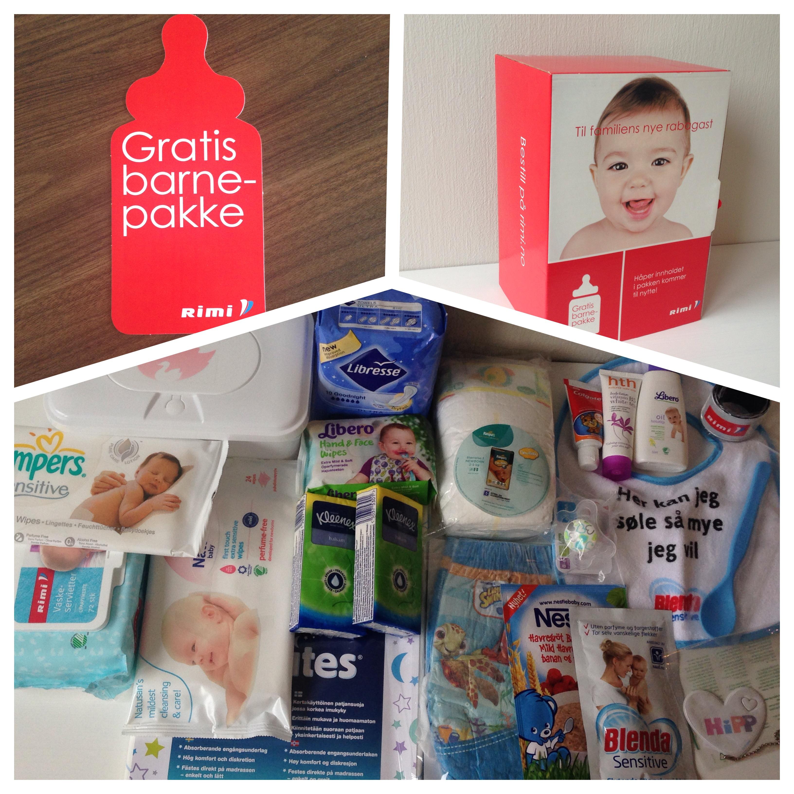 Gratis barnepakke fra Rimi